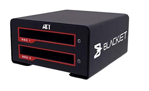 Blackjet VX-2SSD USB 3.1 Gen 2 10Gbps USB Type-C [Thunderbolt 3 Compatible], Dual SSD Docking Station [Supports UASP][SATA3]