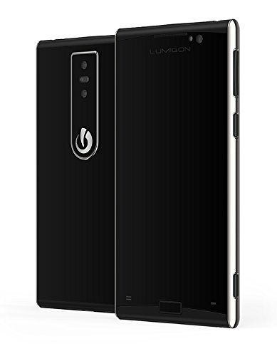 Lumigon T3 128GB Stainless Steel Dual-SIM Factory Unlocked 4G Smartphone (Black) - International Version with No Warranty