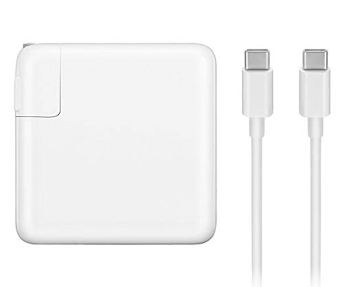87W USB Type C Power Adapter Charger with USB-C to USB-C Cable