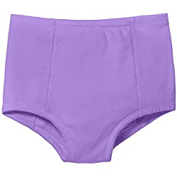 City Threads Boys & Girls Training Underwear Pants Panties Underpants for Potty Training Kids Toddlers - All Cotton for Sensitive Skins SPD Sensory Friendly Clothing, Deep Purple, 7