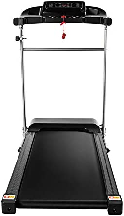 Teblacker Folding Treadmill - 2.25HP Electric Treadmill with LCD Display and Cup Holder - Suitable for Home Office Jogging, Black 2
