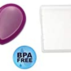 Sililids Silicone Makeup Pad Applicator. Personal Sanitary Travel Case. Premium hypoallergenic non porous silicone pad for flawless skin and impurity-free moisturizer and makeup application.