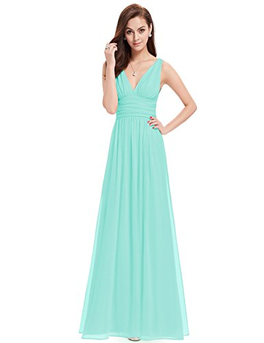 """31gPCZbZUzL Sheer chiffon fabric in outside layer and fully lined in polyester Sexy plunging """"V"""" shaped neckline in both front and back ,with a Lace camisole inside Under bust area is ruched to place emphasis on curves"""