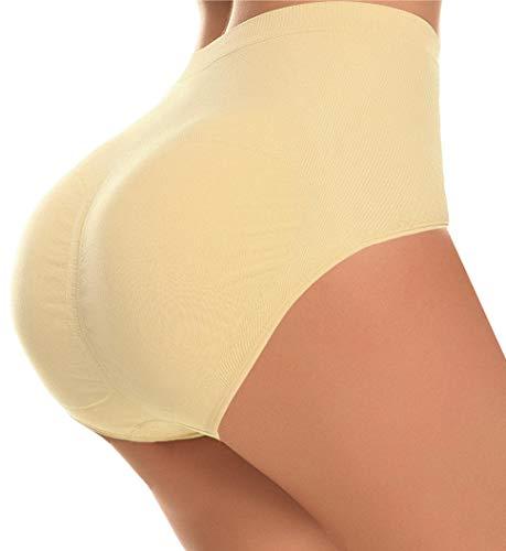 CeesyJuly Womens Padding Underwear Control Panties Shaper Waist Cincher Girdle Nude