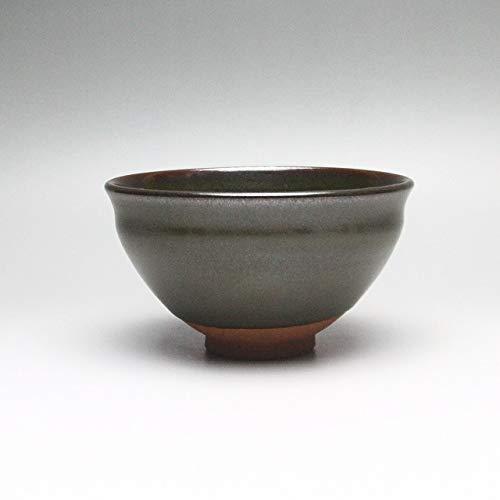 Hagi tenmoku Matcha chawan tea bowl. Japanese ceramic Hagi yaki (Hagi-ware) made by Kohei Tanaka.
