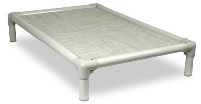 Kuranda Almond PVC Chewproof Dog Bed - XXL (50x36) - Vinyl Weave - Birch Forest