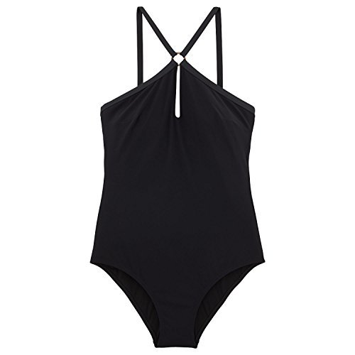 31gqEWyfwML Be sleek and sexy in the subtle Vilebrequin™ Tuxedo Swimwear One-Piece.  Halter neck and O-ring one-piece.