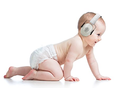 BEBE Muff Hearing Protection - BEST USA Certified Noise Reduction Ear Muffs, Silver, 3 months+