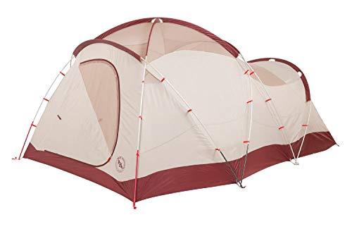 Big Agnes Flying Diamond Base Camp/Car Camp Tent, Wine/Tan, 4 Person