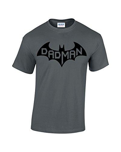 CBTWear Dadman - Super Dadman Bat Hero Funny Premium Men's T-Shirt (Large, Charcoal)