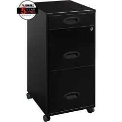 Lorell SOHO Mobile Cabinet, Black