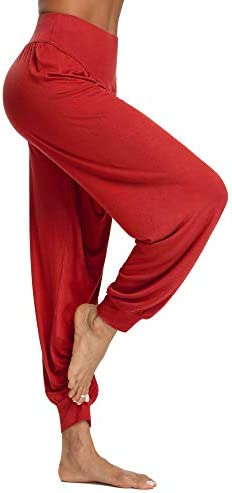 PACBREEZE Women's Harem Yoga Lounge Pants Soft Loose Dance Pilates Workout Pants 4