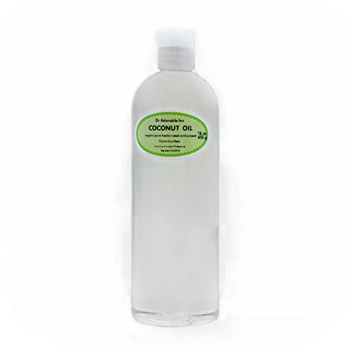 Dr Adorable Organic Pure Fractionated Coconut Oil, 16 Oz