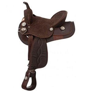 King Series Eclipse by Tough1 Round Skirt Competition Saddle