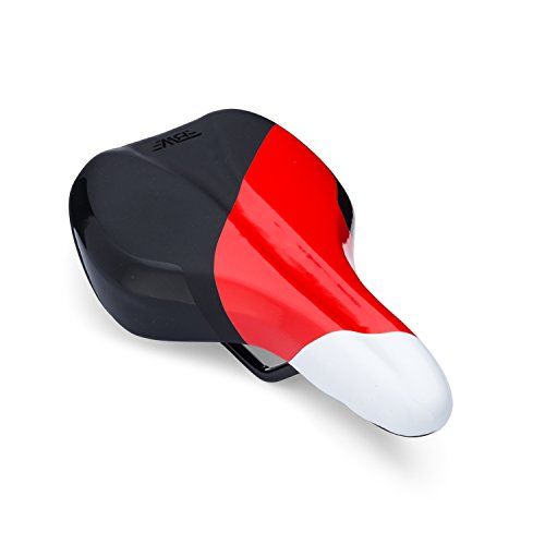 BW Bicycles Kids Seat - Youth Replacement Bike Saddle - Red