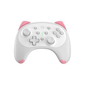 IINE Cartoon Kitten Wireless Controller for Nintendo Switch/Lite White,Small Size