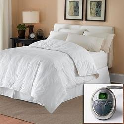 Sunbeam All Season KING Premium Heated Mattress Pad with Two Heating Digital Controllers- 250 Thread Count 100% Cotton