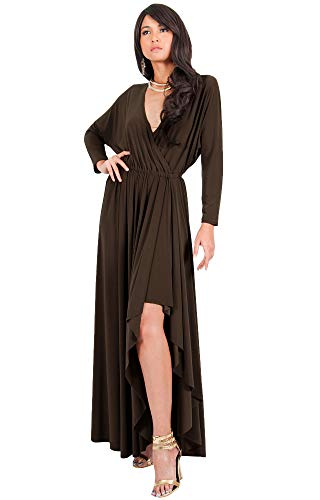 61CrtN%2Be7mL PLUS SIZE - This great maxi dress design is also available in plus sizes STYLE - Comfortable and well-fitted long sleeved maxi dresses that can be dressed up or down to suit your mood OCCASION - Perfect casual maxi dresses with sleeves or understated chic long sleeved gowns