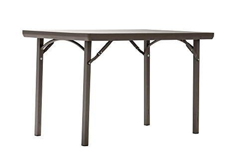 Cosco 60424PRM1E Rectangular Heavy Duty Blow Mold Banquet Folding End of Table Seating, 4 ft, Brown