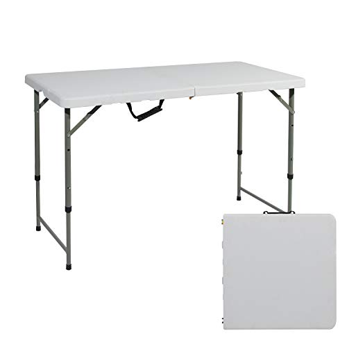 soges Folding Table 48 by 24 in, Portal Outdoor Folding Utility Table for Garden, Beach, Camping, Picnics, Cookouts, Party, Weatherproof, No Assembly and Easy to Carry, HP-122CZ