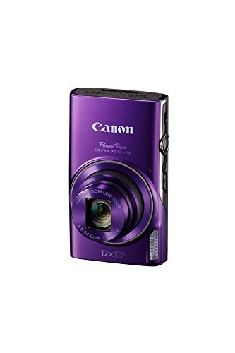 Canon PowerShot ELPH 360 HS 20.2 Megapixel Digital Camera with 12x Optical Zoom 3.0-inch TFT LCD and Built-In Wi-Fi(Black)