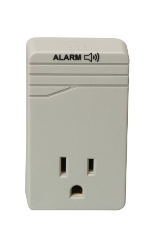 Woods Surge Protector Adapter For 900 Joules Of Protection With One 3-Prong Outlet And Surge Protection Alarm (Wall Mounted, Light Grey)