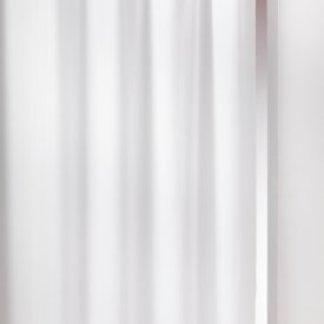 Douceur D'Intérieur  – 1600515, Tenda Con Passanti , 140 X 260 Cm , Essentiel , Poliestere Unito , Bianco