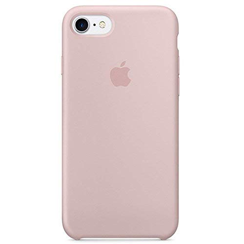 Silicone Phone Case iPhone 8/ iPhone 7(4.7nch), Pink Sand Liquid Silicone Gel Rubber Case Soft Microfiber Cloth Lining Cushion