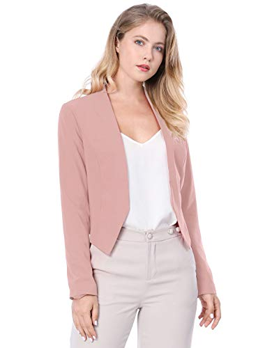 Allegra K Women's Collarless Work Office Business Casual Cropped Blazer 1 Fashion Online Shop 🆓 Gifts for her Gifts for him womens full figure