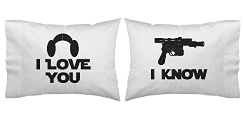 Download Star Wars Inspired I Love You, I Know Blaster Pillowcase ...