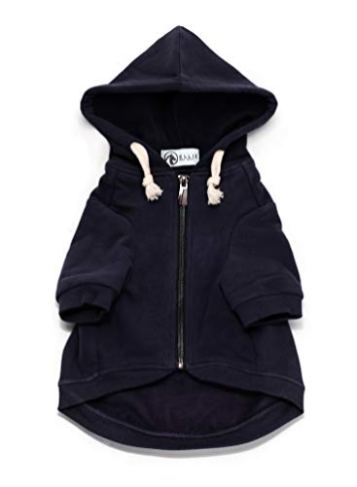 Ellie-Dog-Wear-Adventure-Zip-Up-Dog-Hoodie-Navy-Blue-with-Hook-Loop-Pockets-and-Adjustable-Drawstring-Hood-Size-XXS-to-XL-Comfortable-Versatile-Premium-Dog-Hoodies
