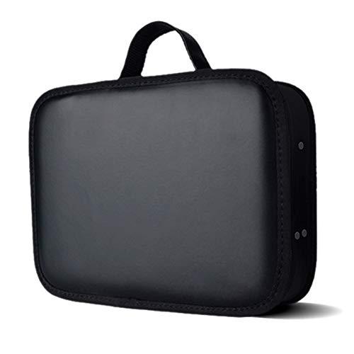 Lastnight Portable Barber Tools Makeup Train Case Bag Hair Salon Styling Clipper Comb Scissors Storage Travel Carrying Case - Black