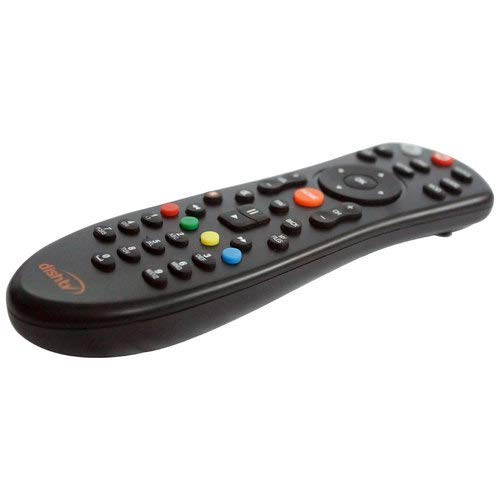 JPBROTHERS 4U, (Combo Offer) Compatible Dish TV Universal Set Top Box Remote Control (Black), with PU Leather Cover Holder (Remote + Cover Both are Given) 4