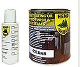 Hemp Shield Wood Finish & Deck Sealer - Cedar 1 Gallon