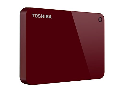 Toshiba Canvio Advance 2TB Portable External Hard Drive USB 3.0, Red (HDTC920XR3AA)