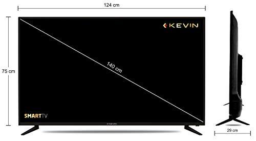 Kevin 140 cm (55 Inches) 4K UHD | HDR-10 LED Smart TV KN55UHD (Black) 4