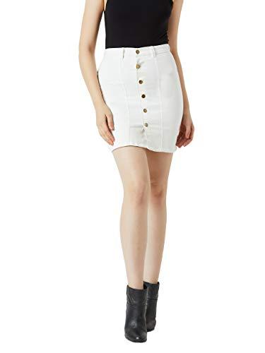 Miss Chase Women's Denim a-line Skirt