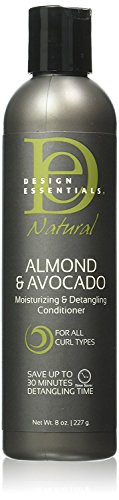 Design Essentials Natural Moisturizing & Super Detangling Sulfate-Free Conditioner with Natural Shea Butter and Coconut Milk-Almond & Avocado Collection, 8oz.