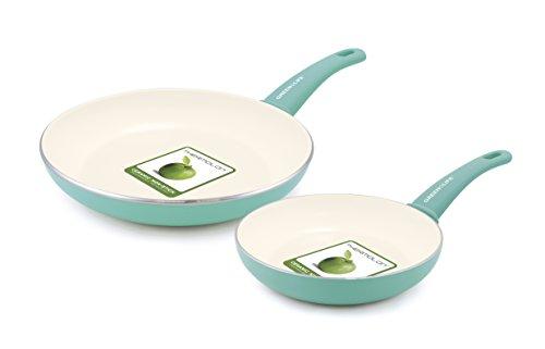 GreenLife Soft Grip Ceramic Non-Stick Fry Pan Set