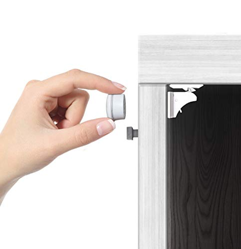 Jambini Magnetic Cabinet Locks - Child Safety Locks | Baby Proofing Cabinets System (8 Locks + 2 Key)