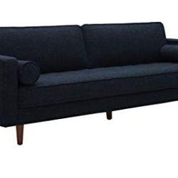 Amazon Brand – Rivet Aiden Mid-Century Modern Sofa Couch (86.6″W) – Wathet Blue