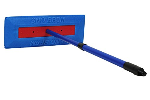 """SnoBrum – The Original Snow Remover Brush / Tool for Vehicles – Push-Broom Design, 28"""" Extendable Telescoping Handle - Remove Heavy, Wet Snow from Your Car / SUV / Truck Without Scratching the Paint"""