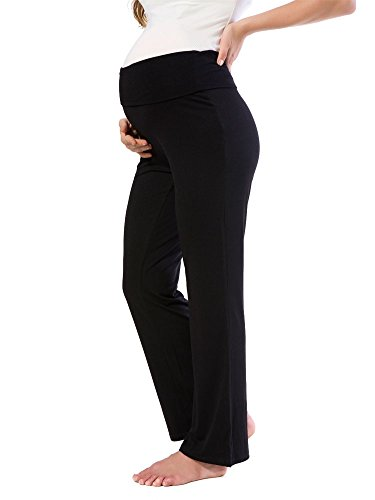 58b50efd90910 Jinson Women's Maternity Wide/Straight Versatile Comfy Palazzo Lounge Pants  Stretch Pregnancy Trousers