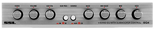 Sound Storm SQ4 4-Band Pre-Amp Car Audio Equalizer with Front/Rear and Subwoofer Outputs