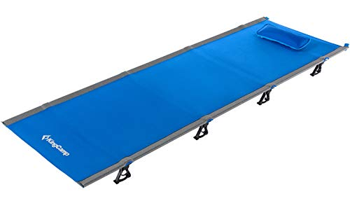 KingCamp Ultralight Compact Folding Camping Tent Cot Bed, 4.9 Pounds (Blue)