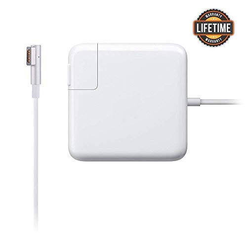 Mac Book Pro Charger, Replacement 60W L-Tip Magsafe 1 Power Adapter Charger for Mac Book and 13-inch Mac Book Pro (Before Mid 2012 Models) (60W-L)