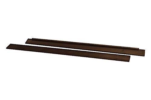 Full Size Conversion Kit Bed Rails for Davinci Jayden 4-in-1 Crib (Espresso)