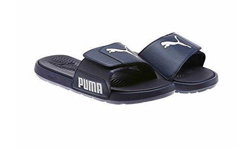 PUMA Mens Starcat Tech Slide Sandals (Black/Asphalt, 10)
