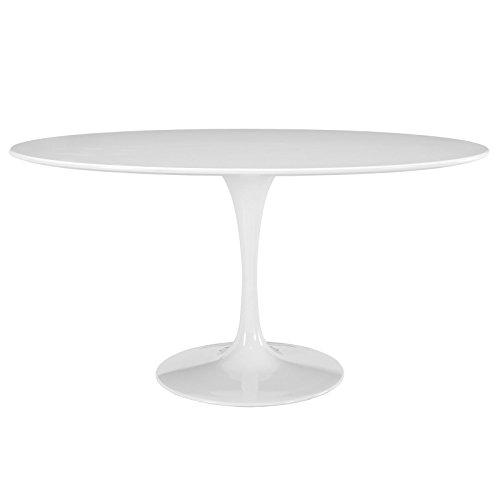 Modway EEI-1121-WHI Lippa Mid-Century Modern 60' Oval Dining Table, White Base