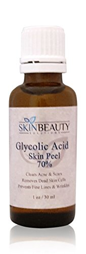 (1 oz / 30 ml) GLYCOLIC Acid 60% Skin Chemical Peel - Unbuffered - Alpha Hydroxy (AHA) For Acne, Oily Skin, Wrinkles, Blackheads, Large Pores & More (from Skin Beauty Solutions)